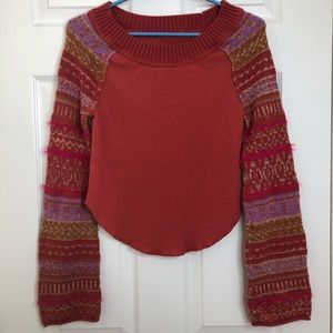 Free People Fairground Striped Thermal Top Small